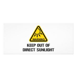 AVISO - mantenha fora da luz solar direta 10.16 X 22.86cm Panfleto