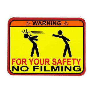 AVISO: Nenhum película - sinal magnético engraçado Ímã