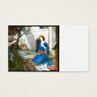 Aviso no jardim cartão de visitas