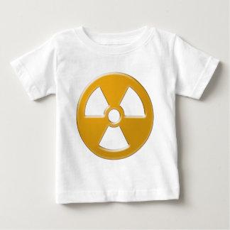 Aviso nuclear camiseta para bebê