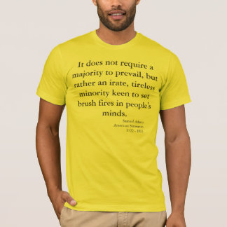 Aviso patriótico por Samuel Adams Camiseta