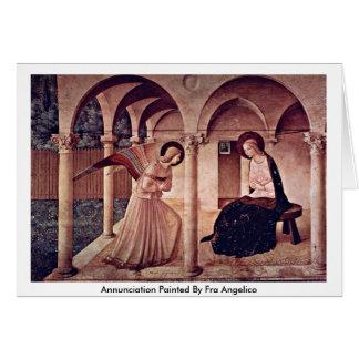 Aviso pintado por Fra Angelico Cartão