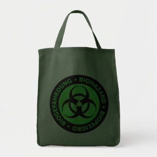 Aviso trilíngue do Biohazard Bolsas