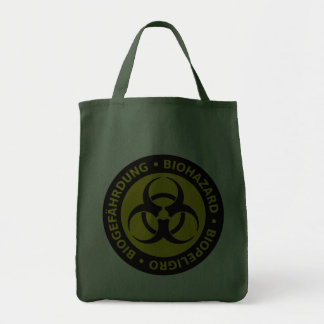 Aviso trilíngue do Biohazard Bolsas De Lona