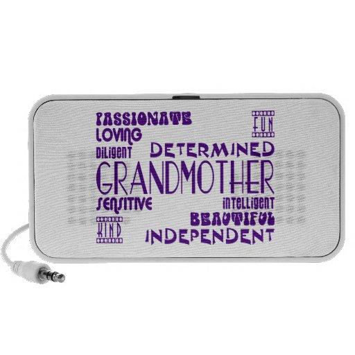 Avó à moda chiques femininos modernas das avós caixinhas de som para laptop
