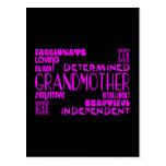 Avó à moda chiques femininos modernas das avós cartão postal