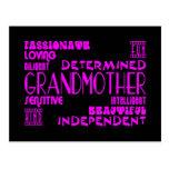 Avó à moda chiques femininos modernas das avós cartões postais