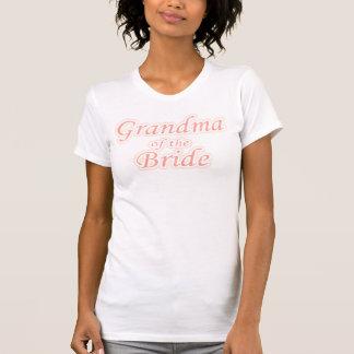 Avó da extravagância da noiva camisetas
