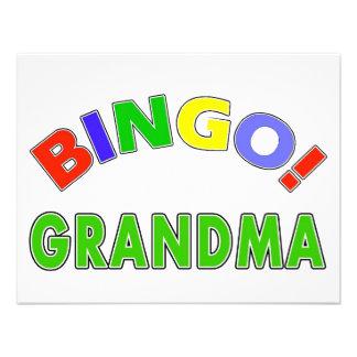 Avó do Bingo Convite Personalizados