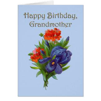 Avó do feliz aniversario cartão comemorativo