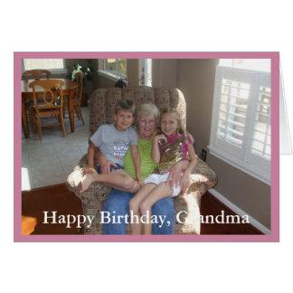 Avó do feliz aniversario da foto - cartão