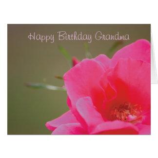 Avó do feliz aniversario do rosa do rosa cartão comemorativo grande