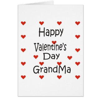 Avó do feliz dia dos namorados cartão comemorativo