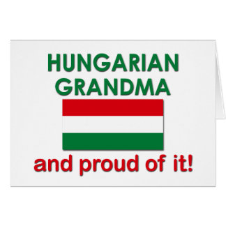 Avó húngara orgulhosa cartao
