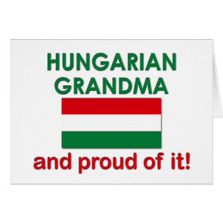 Avó húngara orgulhosa cartão comemorativo