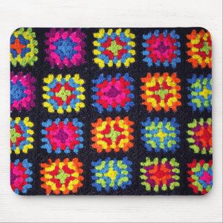 Avó Mousepad quadrado - Crochet Mousepad