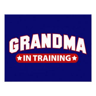 Avó no treinamento convite