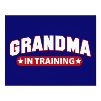 Avó no treinamento convite 10.79 x 13.97cm