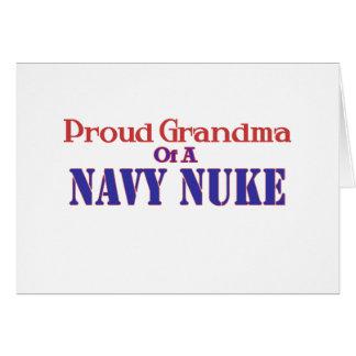 Avó orgulhosa de umas armas nucleares do marinho cartão