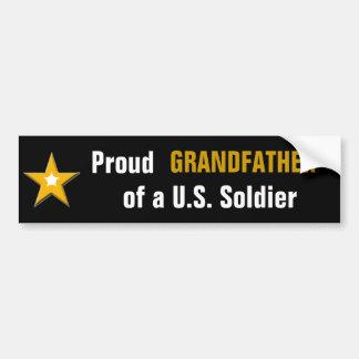 Avô orgulhoso de uma família das forças armadas do adesivo para carro