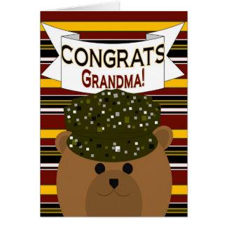 Avó - soldado Congrats do exército! Cartao