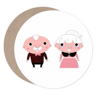 Avós douradas que Wedding o cumprimento Convite Quadrado 13.35 X 13.35cm