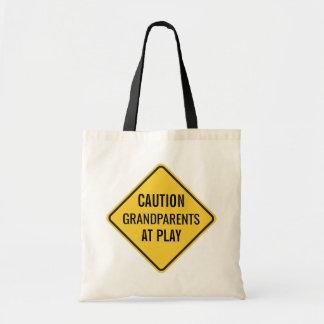 Avós no jogo engraçado bolsa tote