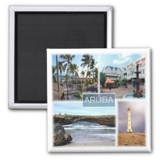 AW * Aruba Ímã Quadrado