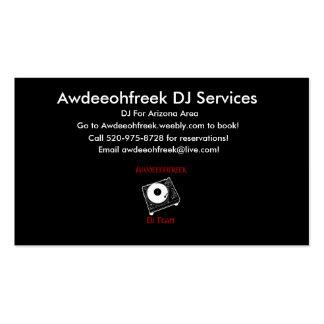 Awdeeohfreek DJ presta serviços de manutenção a Cartão De Visita