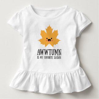 Awwtumn é minha camisa favorita do plissado do