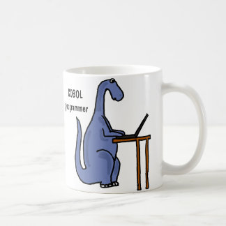 AY- caneca do dinossauro do programador de COBOL