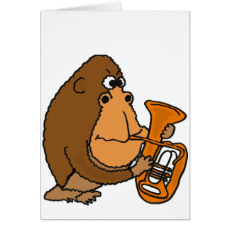 AY- gorila que joga o cartão da tuba