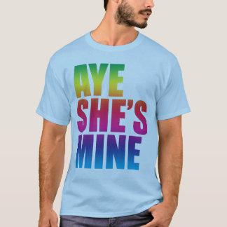 Aye é camisetas engraçadas da mina GLBT