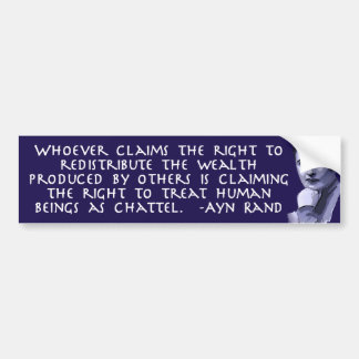 Ayn Rand na redistribução da riqueza Adesivo Para Carro