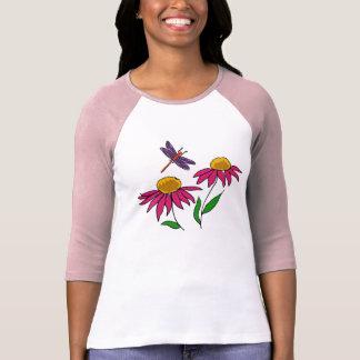 AZ- libélula e camisa de Coneflowers Camiseta