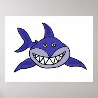 AZ- poster de sorriso dos desenhos animados do tub