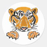 AZ- tigres etiquetas das patas Adesivo