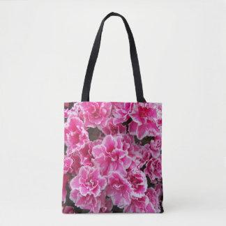 Azáleas cor-de-rosa florais bolsa tote