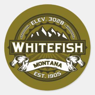 Azeitona do logotipo do peixe branco adesivo