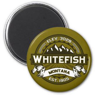 Azeitona do logotipo do peixe branco imas de geladeira
