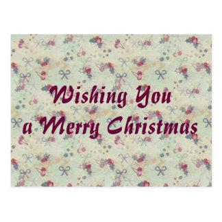 Azevinho, cerejas e cartão do Natal dos arcos