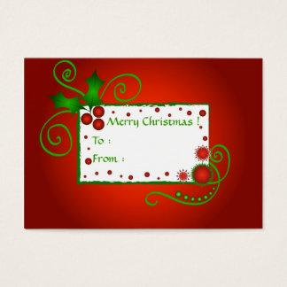 Azevinho do Natal - cartão de Tag do presente