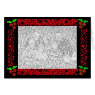 Azevinho do Natal no vermelho Cartão Comemorativo