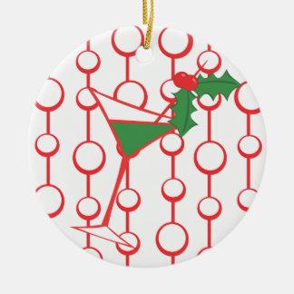 Azevinho-tini Ornamento De Cerâmica Redondo