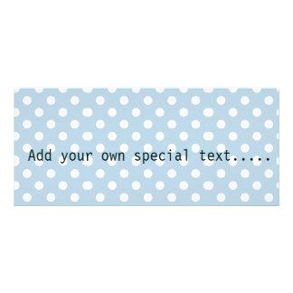 Azuis bebés, bolinhas, branco, customizável, 10.16 x 22.86cm panfleto
