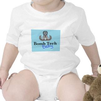 azuis bebés da tecnologia da bomba macacãozinho
