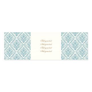 azuis bebés, damascos do vintage, victorian, cartão de visita skinny