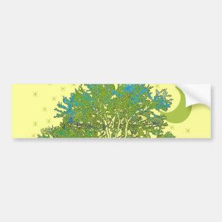 Azuis da árvore adesivo para carro