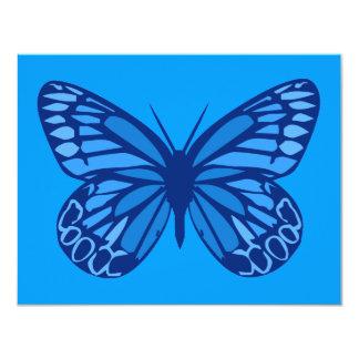 Azuis da borboleta convite 10.79 x 13.97cm