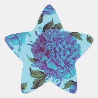 Azuis da peônia adesito estrela